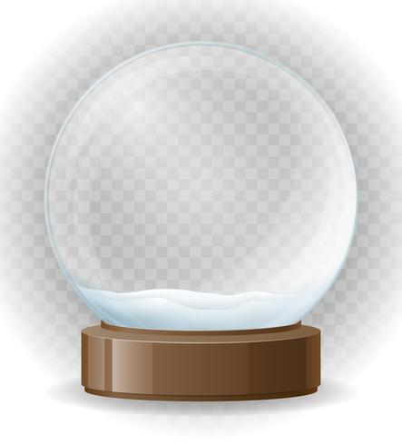 snö klot transparenta vektor illustration