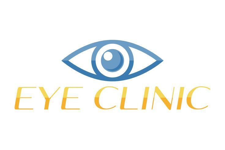 Logotipo de ojo para la ilustración de vector de clínica oftalmología
