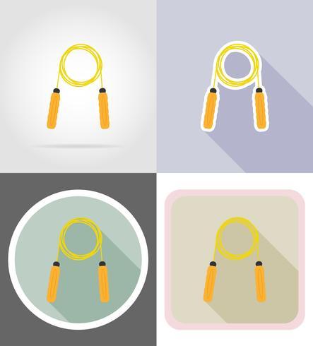hoppa rep platta ikoner vektor illustration