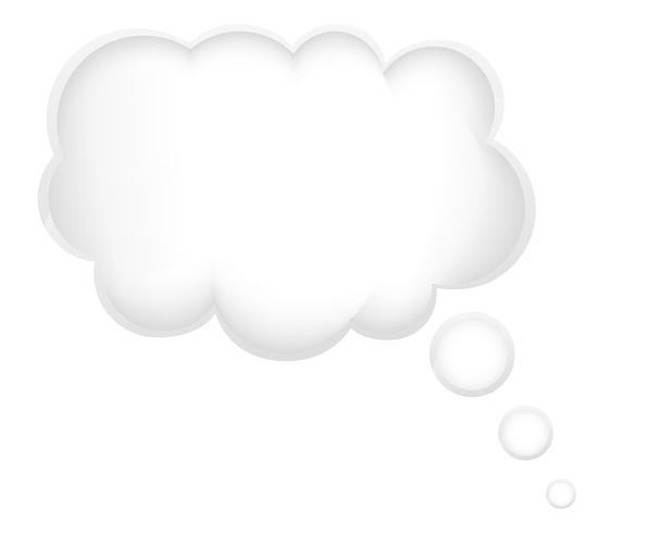 concepto de un sueño en la nube ilustración vectorial vector