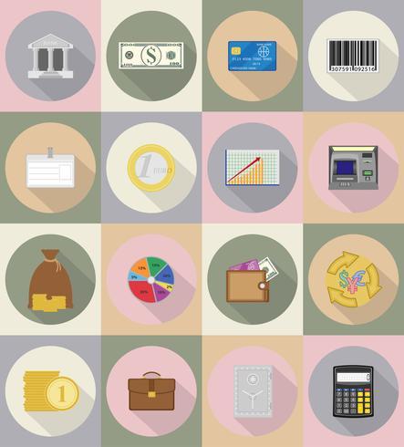 Negocios y finanzas iconos planos vector illustration
