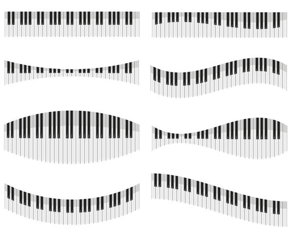 touches du piano pour différentes formes d'illustration vectorielle de conception