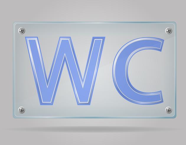 Signo transparente inodoro en la ilustración de vector de placa