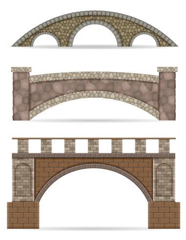 Steinbrückenvorrat-Vektorillustration