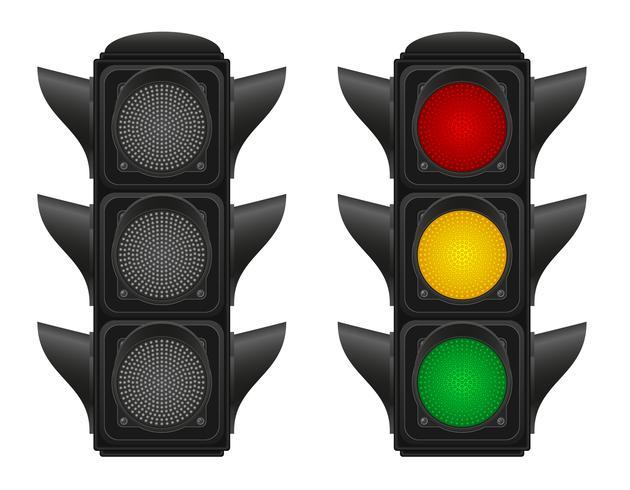 semáforos para coches vector illustration
