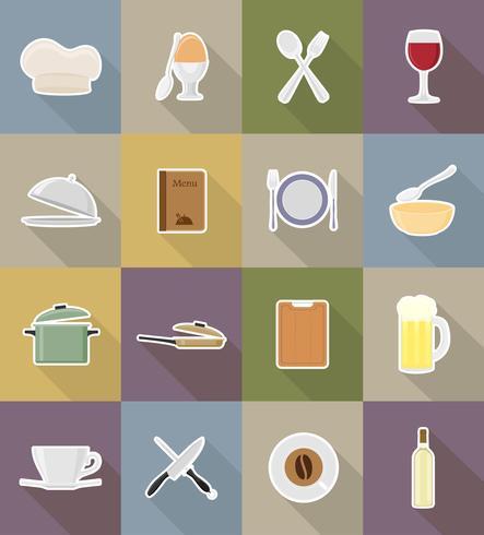 oggetti e attrezzature per l'illustrazione vettoriale di cibo