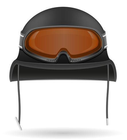 casco militare con occhiali tattici illustrazione vettoriale