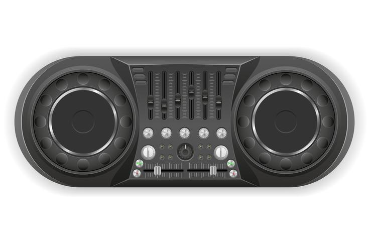 dj panel console sound mixer vector illustration