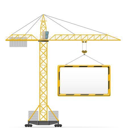Ilustración de vector de grúa de construcción