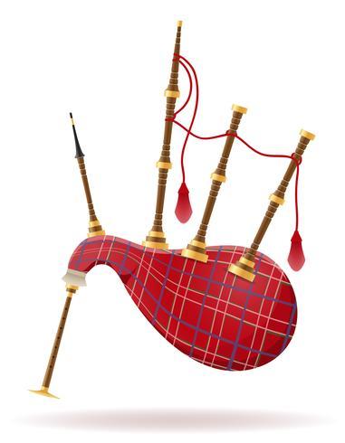 säckpipor vind musikinstrument stock vektor illustration