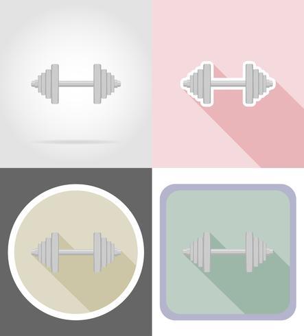 hantel platt ikoner vektor illustration