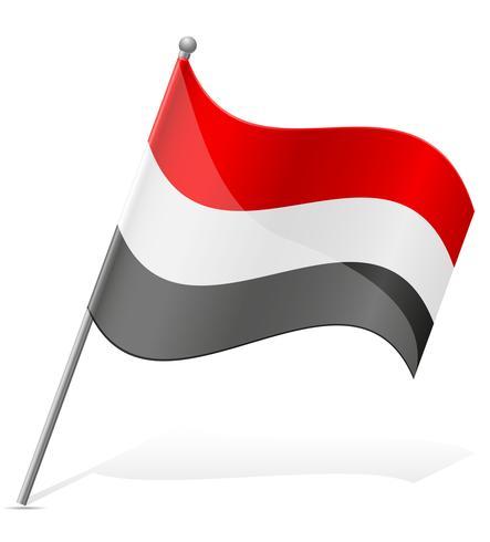 drapeau d'illustration vectorielle au Yémen vecteur