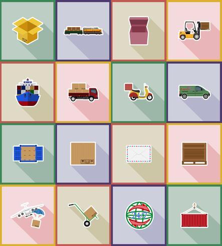 livraison icônes plat vector illustration