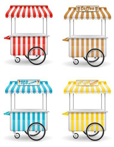 illustration vectorielle de street food cart