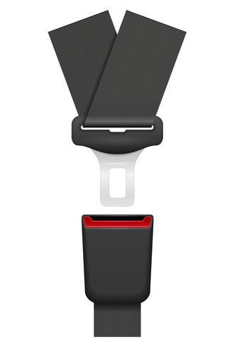 Autogordel voor veiligheid in geval van een ongeval vectorillustratie