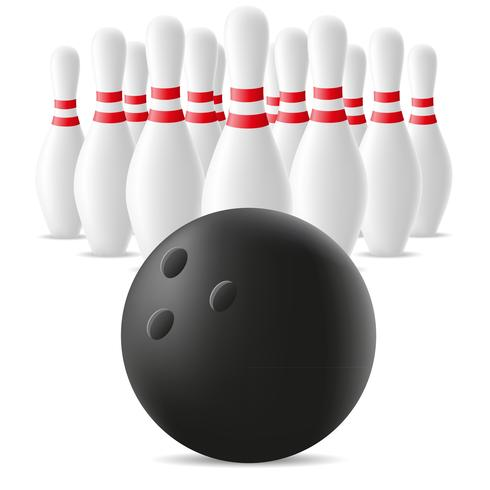 bowling ball and skittle vector illustration