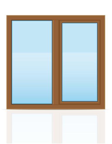 bruin plastic transparant venster weergave buitenshuis vectorillustratie