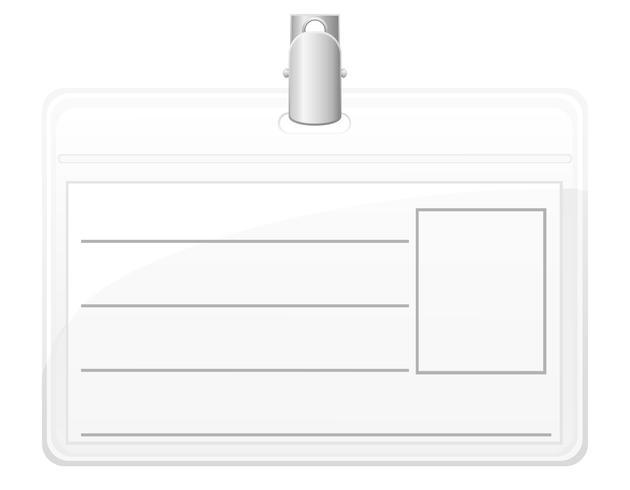 Ilustración de vector de tarjeta de identificación