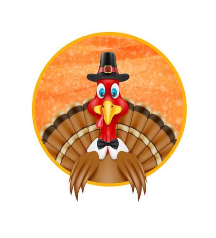 Thanksgiving kalkoen vogel vector illustratie