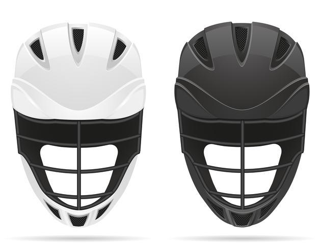 illustrazione vettoriale di caschi lacrosse