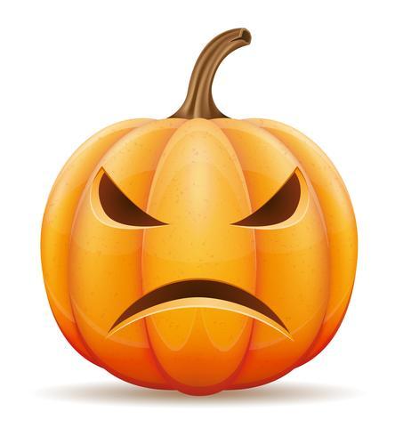 illustrazione vettoriale di zucca di halloween