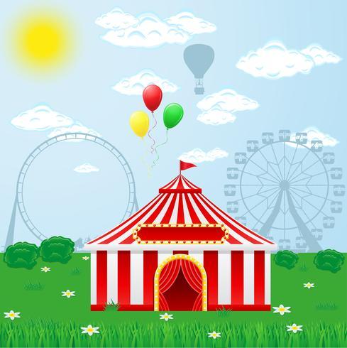 carpa de circo en la naturaleza