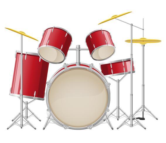 conjunto de tambores ilustración vectorial