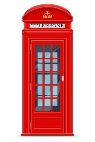 Ilustración de vector de cabina telefónica roja de Londres