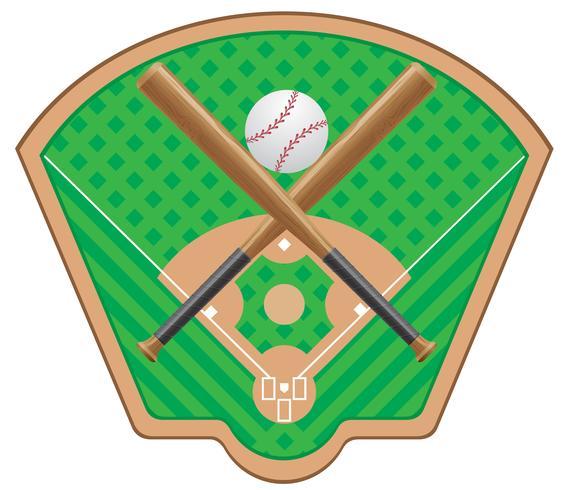 illustrazione vettoriale di baseball