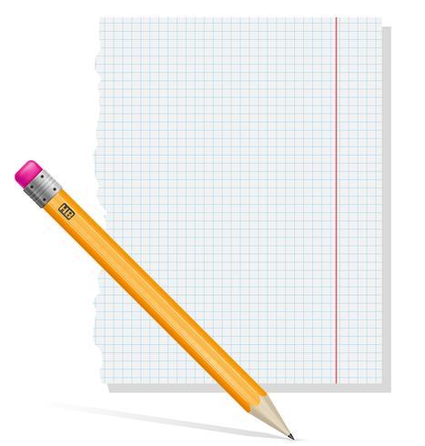 illustrazione vettoriale di carta e matita