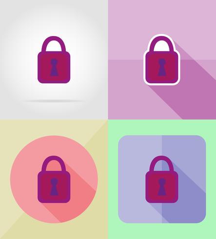 lock for design flat icons vector illustration
