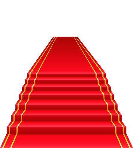 Ilustración de vector de alfombra roja