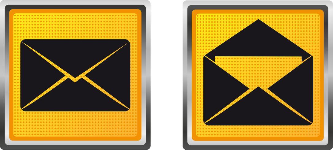 ikoner brev för design vektor illustration