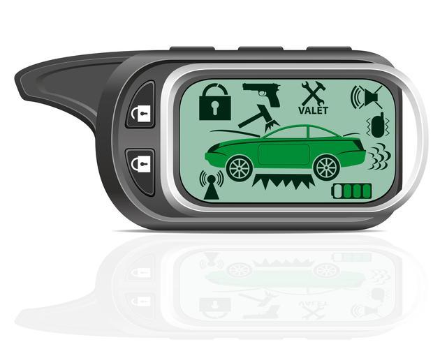 externe auto alarm vectorillustratie vector