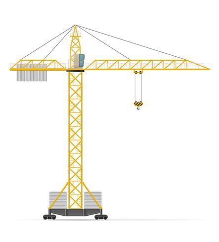 ilustração de vetor de guindaste de construção