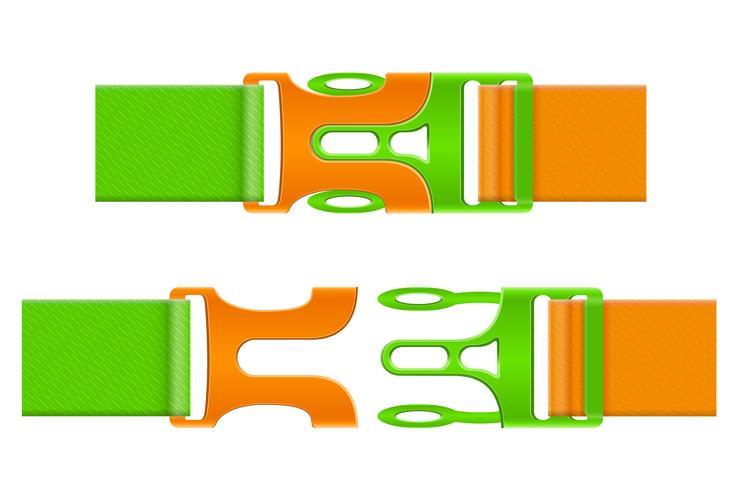 Hebilla de plástico cierre ilustración vectorial