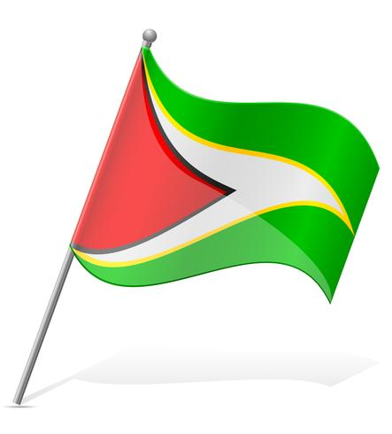 vlag van Guyana vectorillustratie