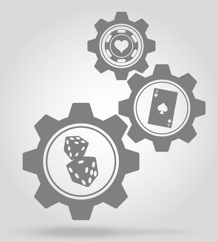 Ilustración de vector de concepto de mecanismo de engranaje de casino