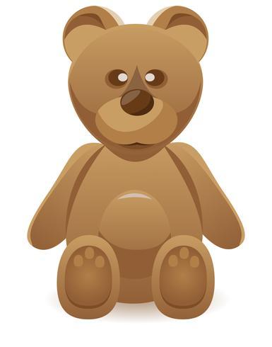 illustration vectorielle ours en peluche