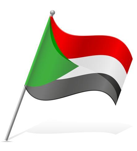 Flagge der Sudan-Vektor-Illustration