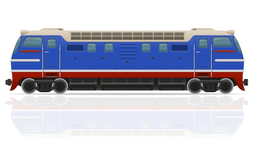 illustration vectorielle de train locomotive train