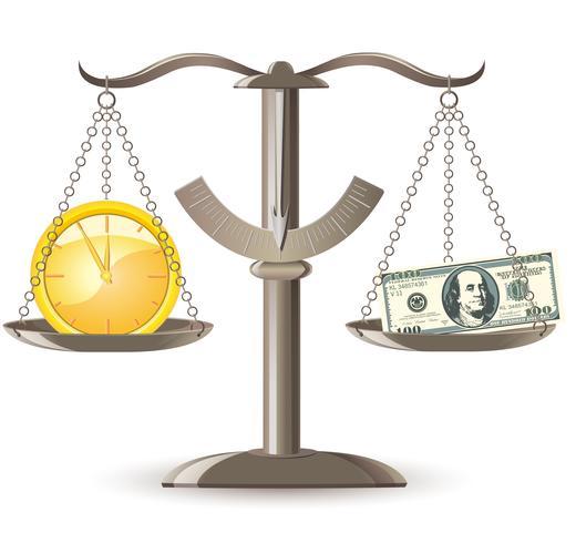bilancia il denaro a scelta