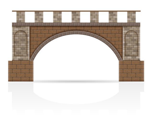 Puente de piedra stock ilustración vectorial