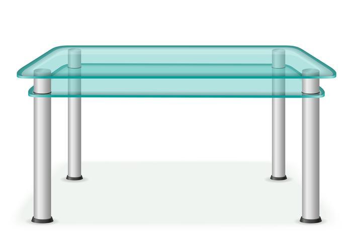 ilustração em vetor móveis mesa de vidro