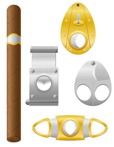 cigarr och cutter vektor illustration