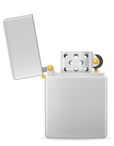 Ilustración de vector de metal encendedor de gasolina
