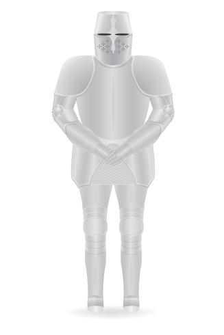 illustration vectorielle d'armure de chevalier
