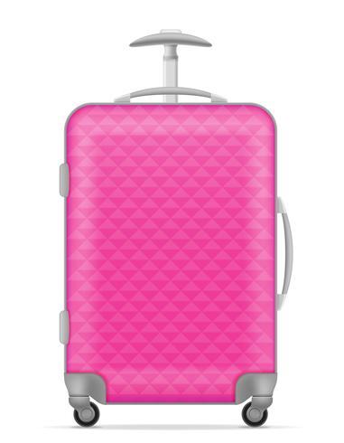 ilustração em vetor saco plástico viagem
