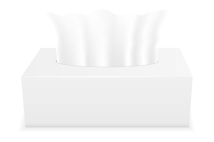 Ilustración de vector de caja de tejido blanco