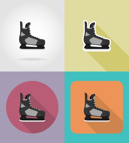 hockey skates plat pictogrammen vector illustratie